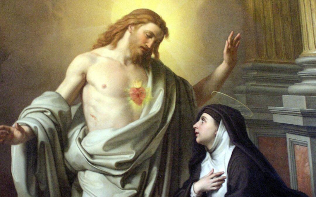 Św. Małgorzata Maria Alacoque (1647 – 1690) – Życie wrodzinie – życie wklasztorze – objawienia Pana Jezusa